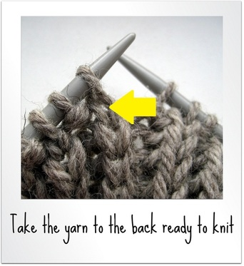 How to knit into the stitch below - Amanda Berry