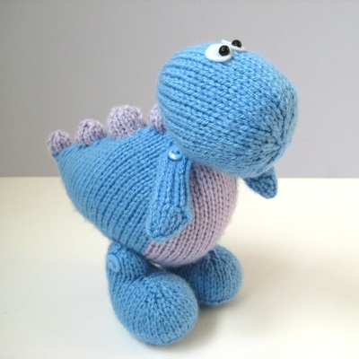 Knitting Pattern Toy Dinosaur : Other Toys - Knitting Patterns by Amanda Berry