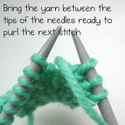 How to knit one purl one - Amanda Berry
