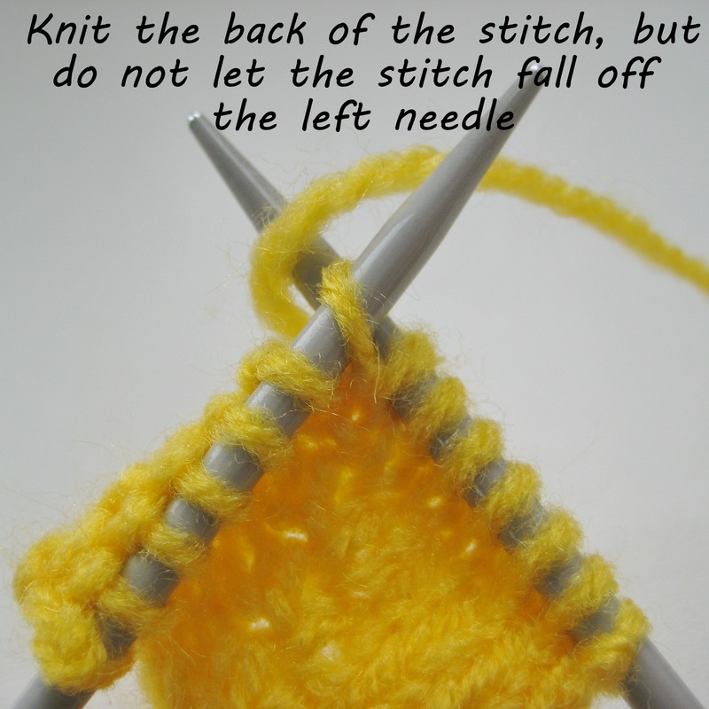 Knitting Kfbf : How to knit inc or increase twice knitting patterns by