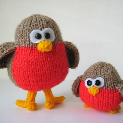 Knitted Robin Pattern For Christmas : Christmas - Amanda Berry
